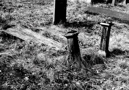 HVB FO 00733  Verwaarloosd graf op de Oude Begraafplaats